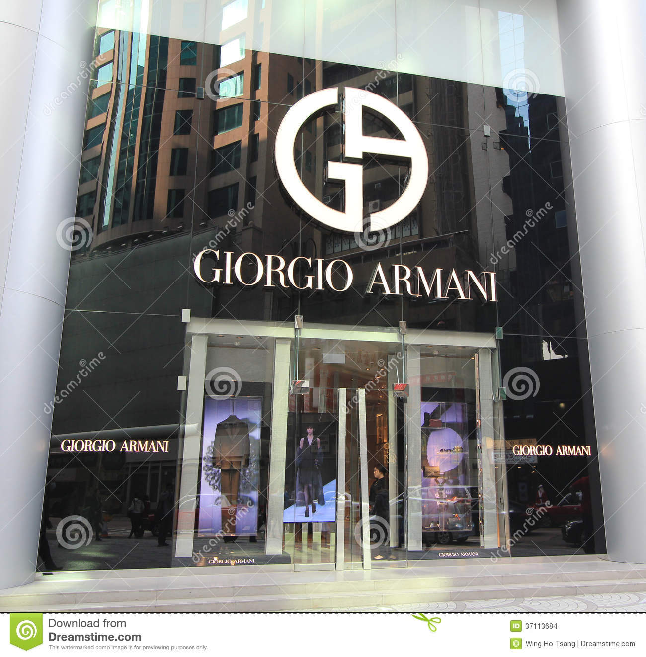 6f73d46859 Giorgio Armani Shop In Hong Kong Editorial Stock Image - Image of ...