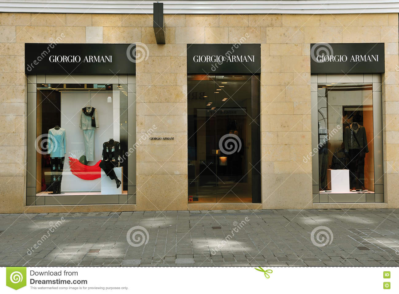 ... Facade of Giorgio Armani flagship store in the street of Vienna of June  6 2896cc092dbc5