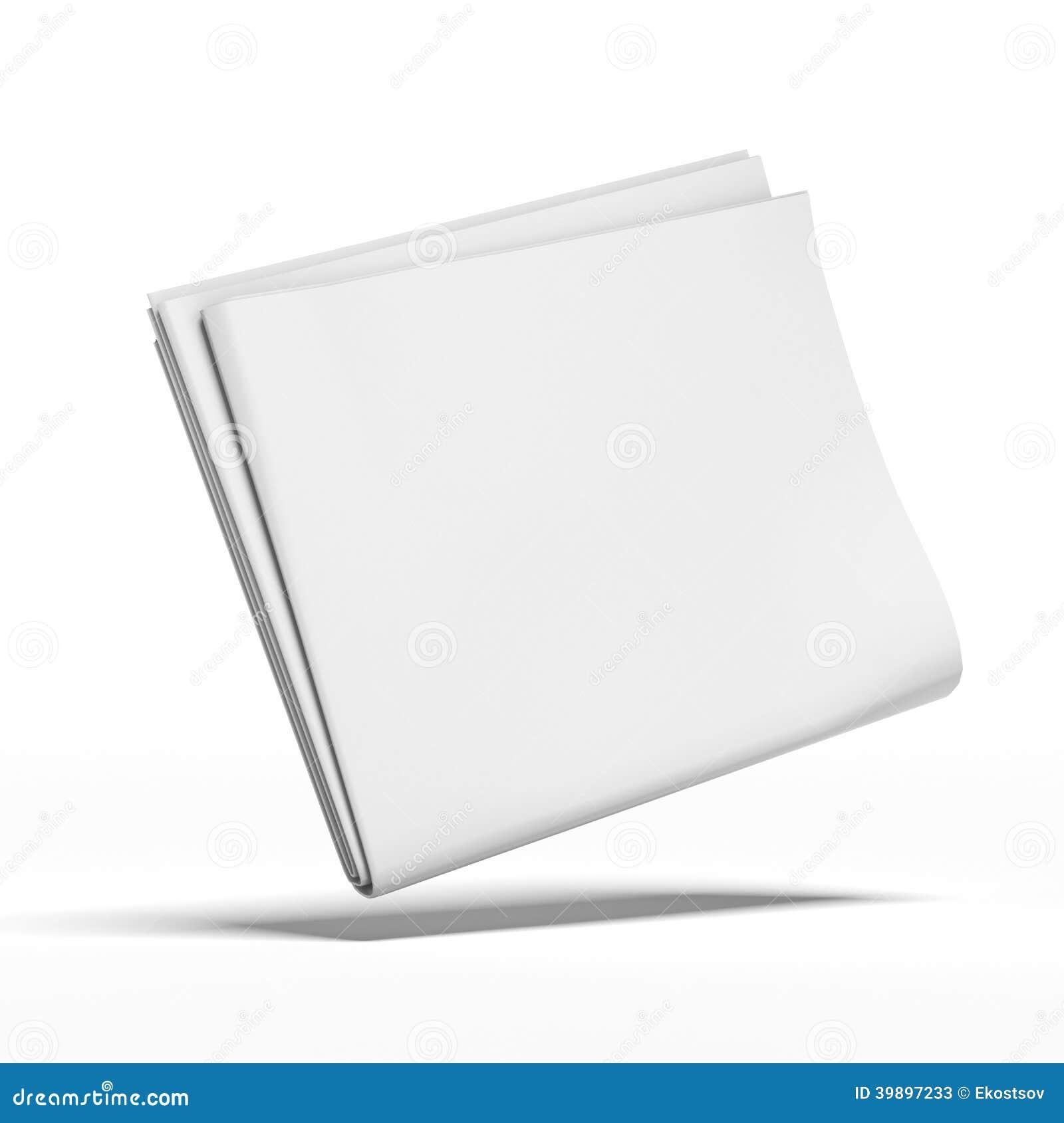 Giornale in bianco bianco