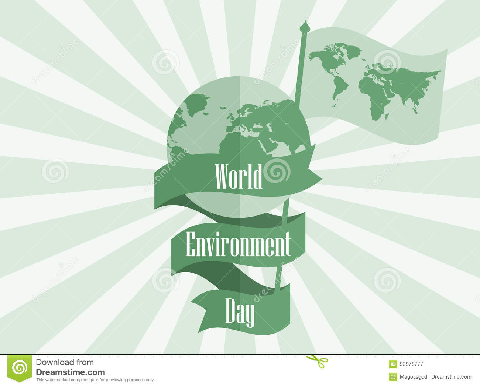 Giornata Mondiale Dellambiente 5 Giugno Pianeta Terra Con Il Nastro