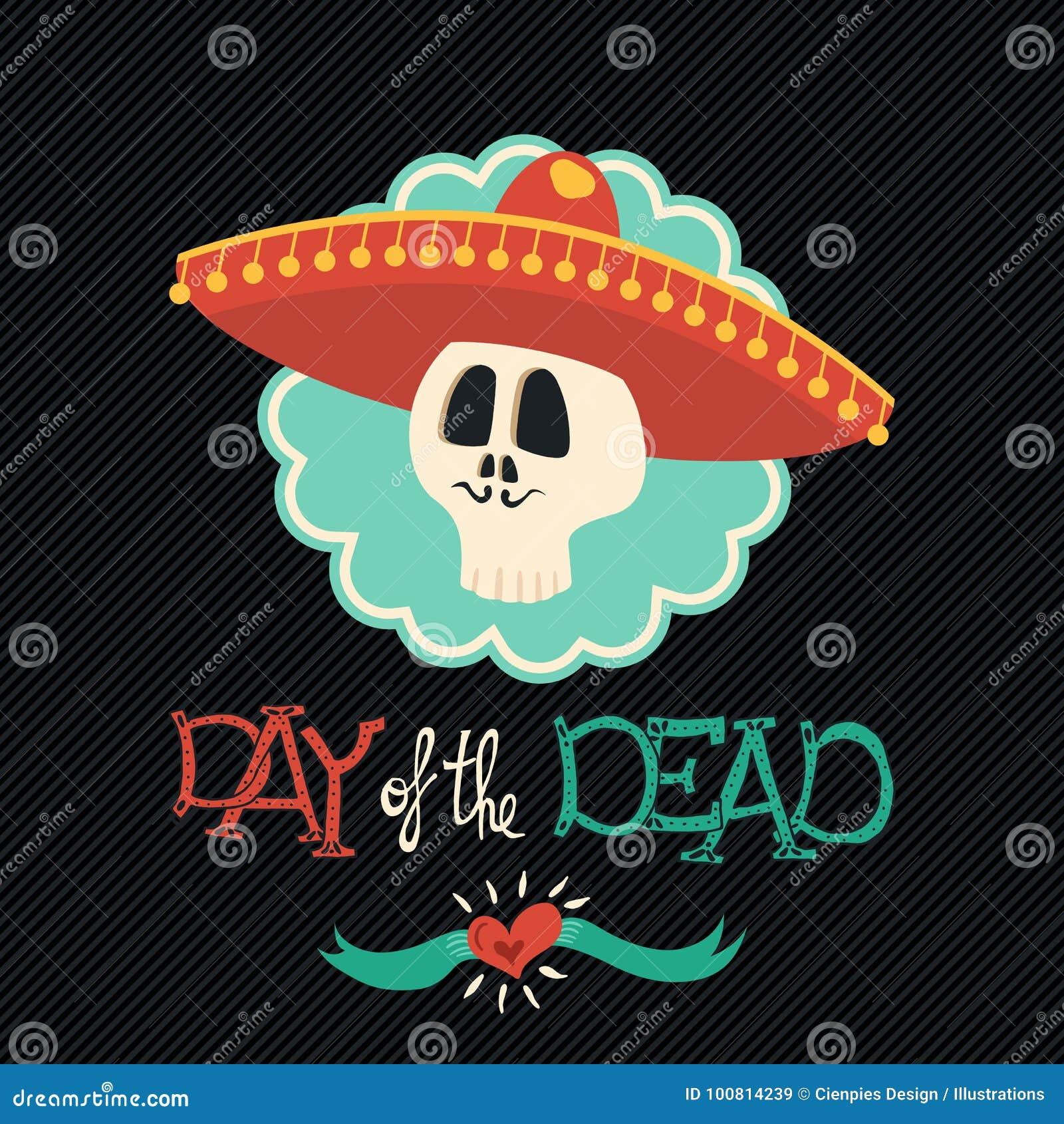 Giorno del cranio messicano morto dello zucchero del cappello dei mariachi eaae48e1200a