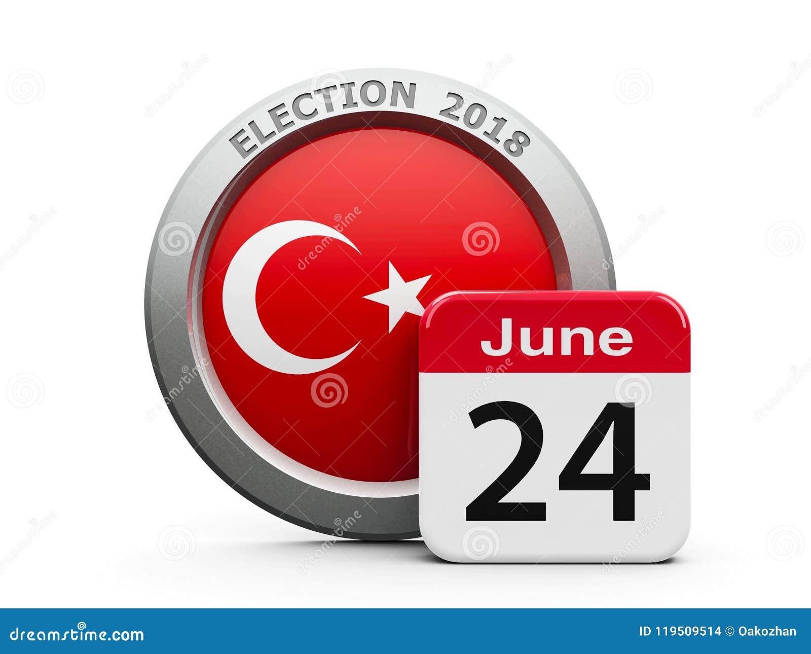 Calendario Elezioni.Giorno Delle Elezioni Turchia Illustrazione Di Stock
