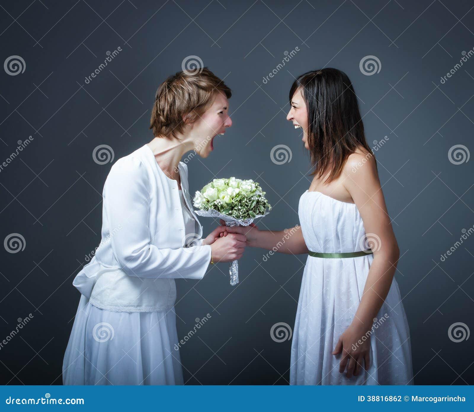 Giorno delle nozze nei problemi di una moglie