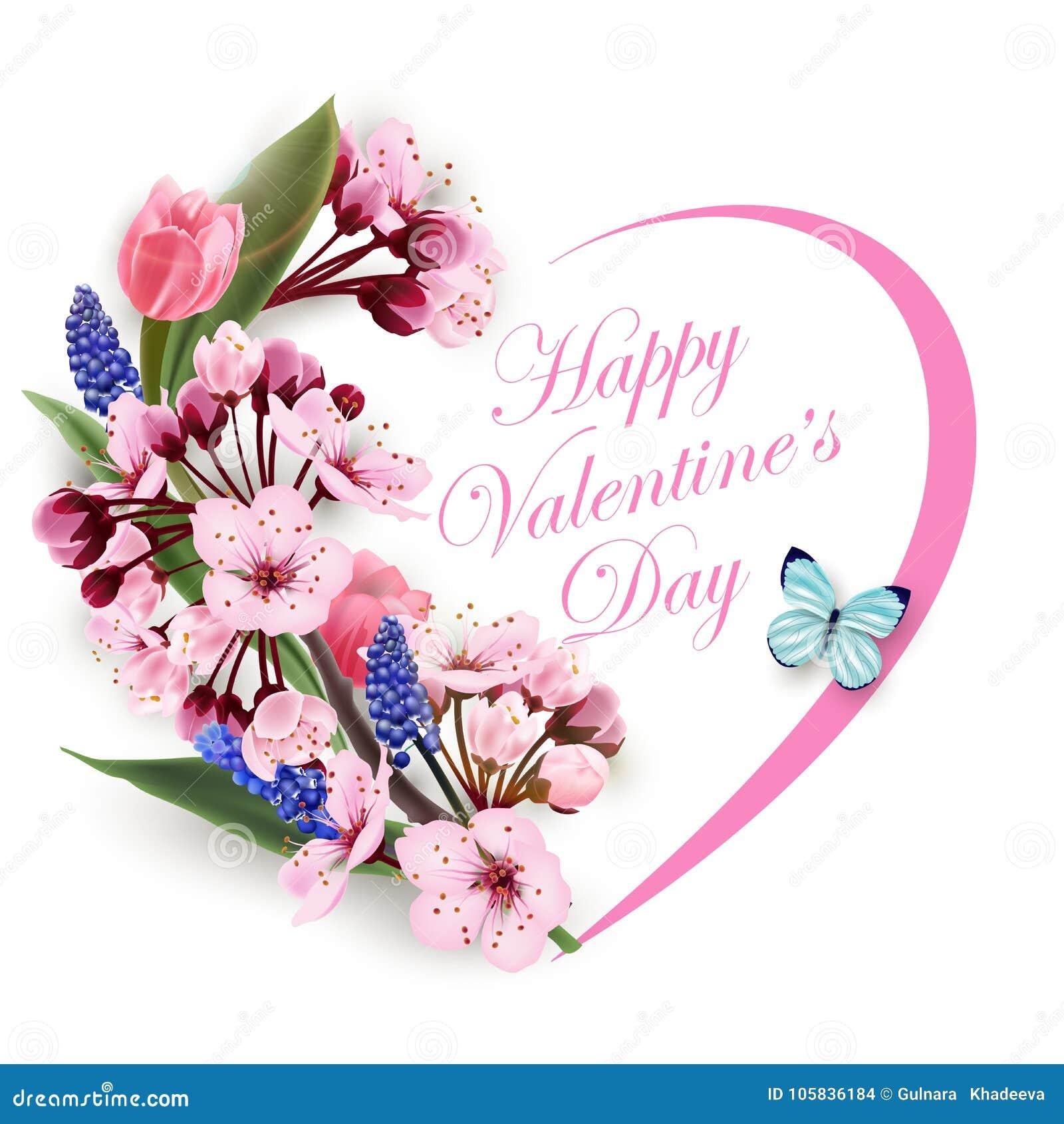 Giorno Di Biglietti Di S Valentino Felice Della Cartolina D