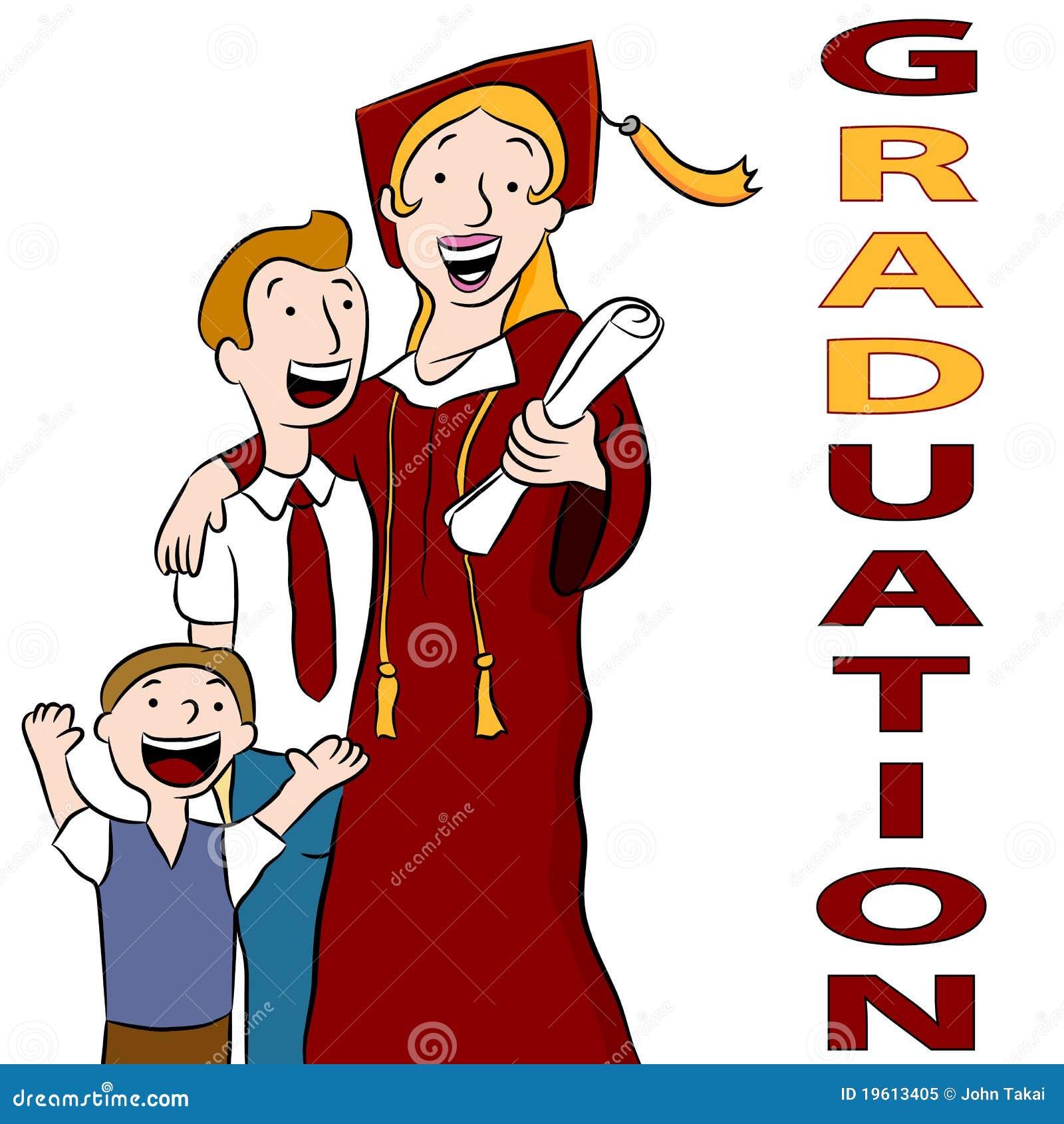 Giorno di graduazione della mamma