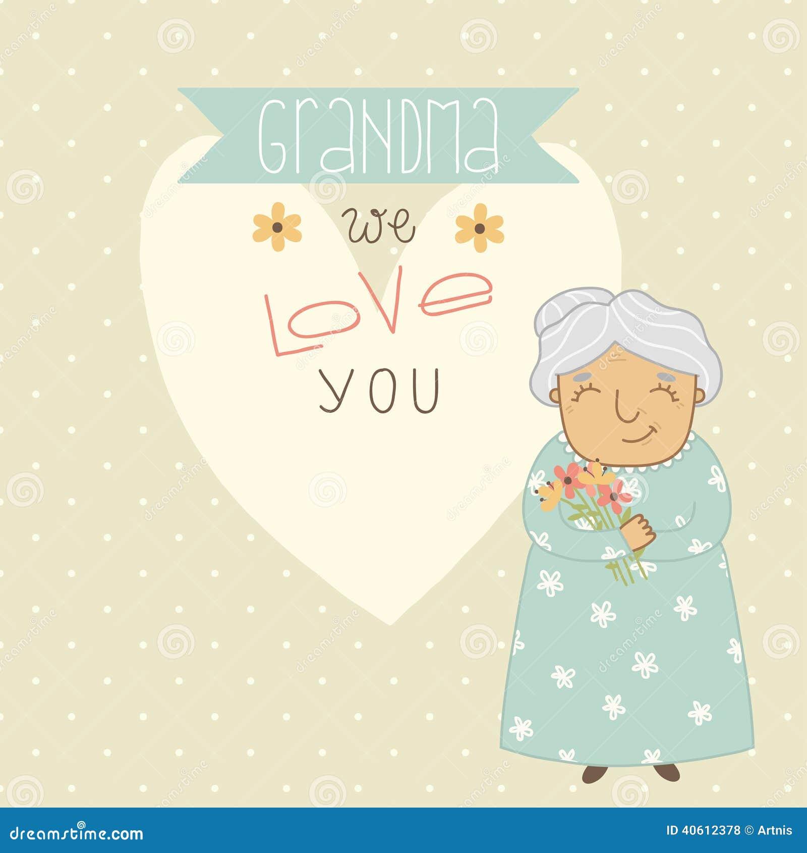 Giorno di madri felice Carta per la nonna