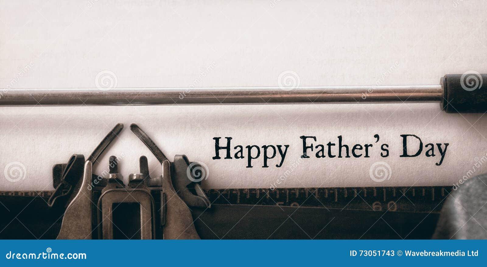 Giorno di padri felice scritto su carta