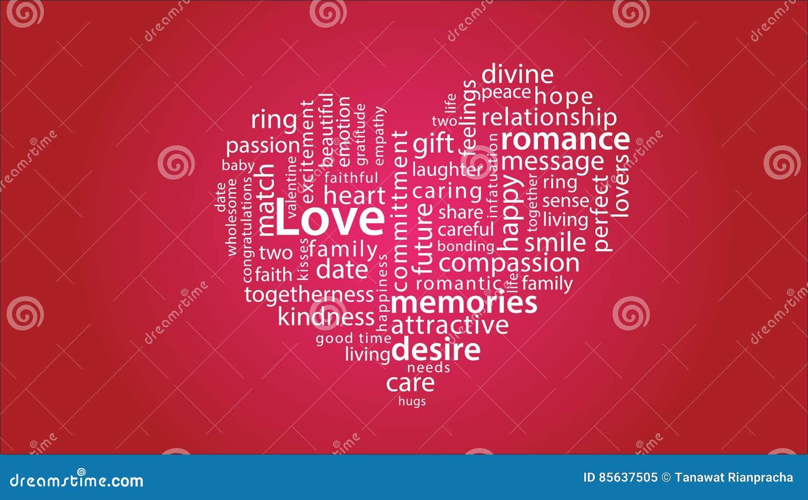 Giorno di S. Valentino di ringraziamento del cuore di passione di amore della nuvola di 01 parola