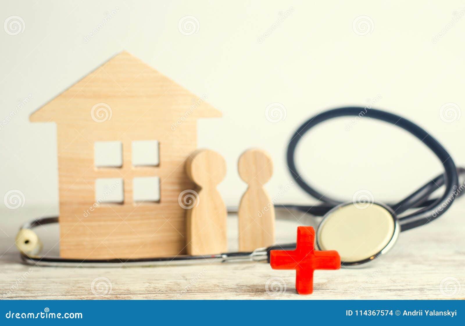 Giorno di salute di mondo, il concetto della medicina di famiglia ed assicurazione stetoscopio e la gente