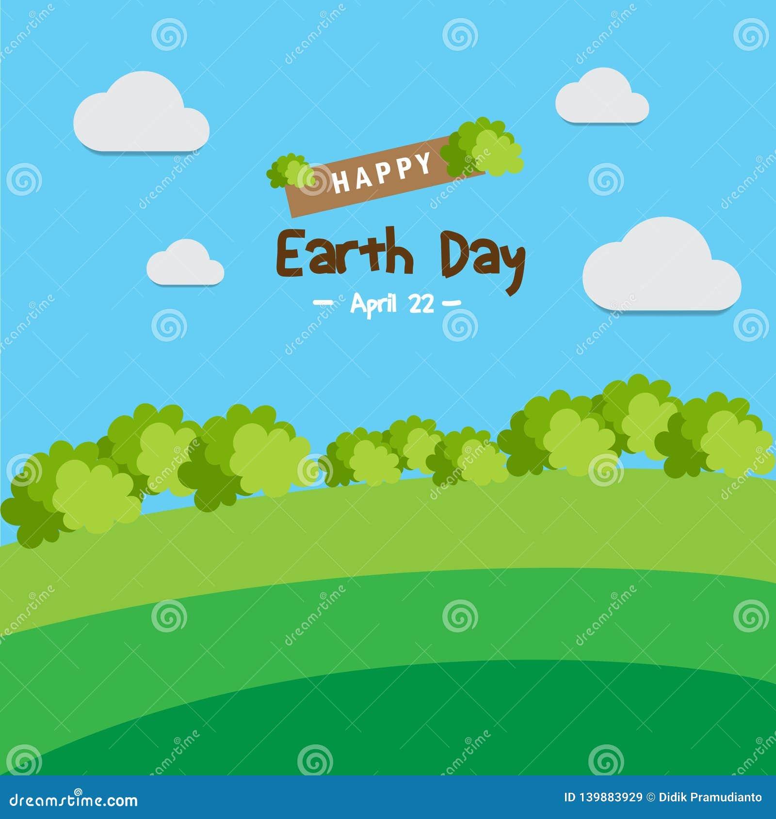 Giorno di terra felice per migliore vita