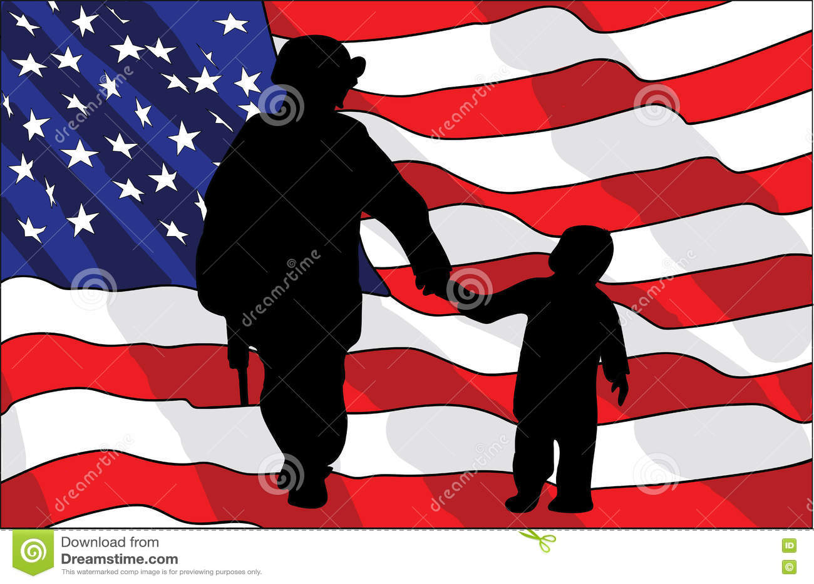 Giorno di veterani un soldato americano e un bambino - Papaveri e veterani giorno di papaveri e veterani ...
