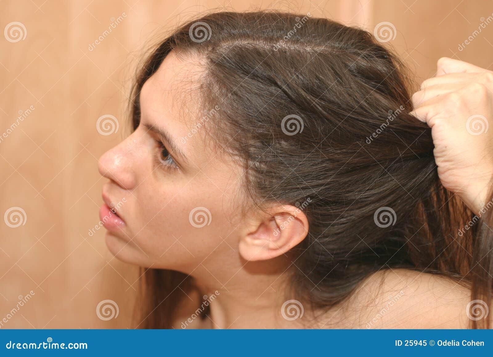 Giorno difettoso dei capelli