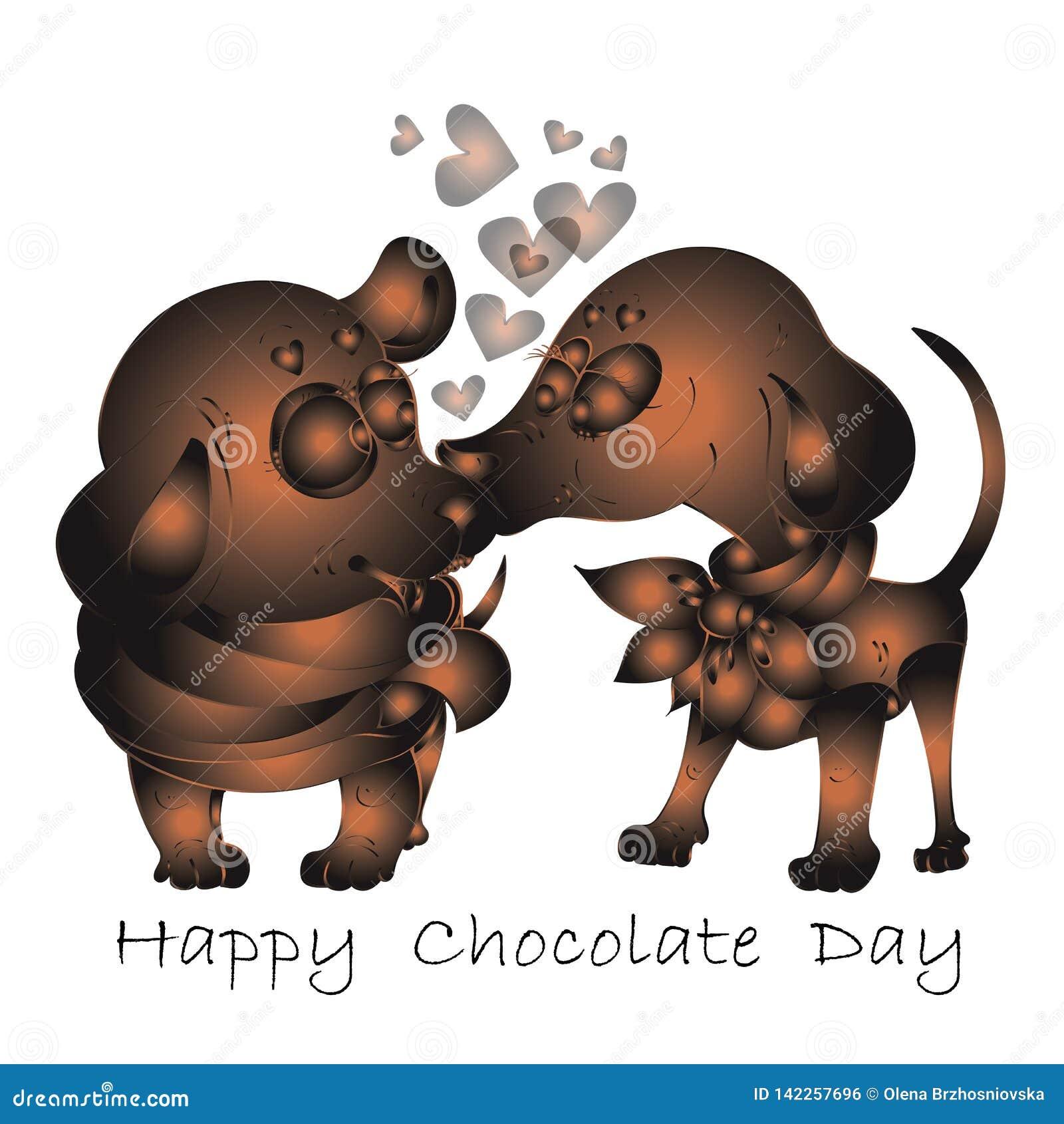 Giorno felice del cioccolato, carta dell invito di vettore