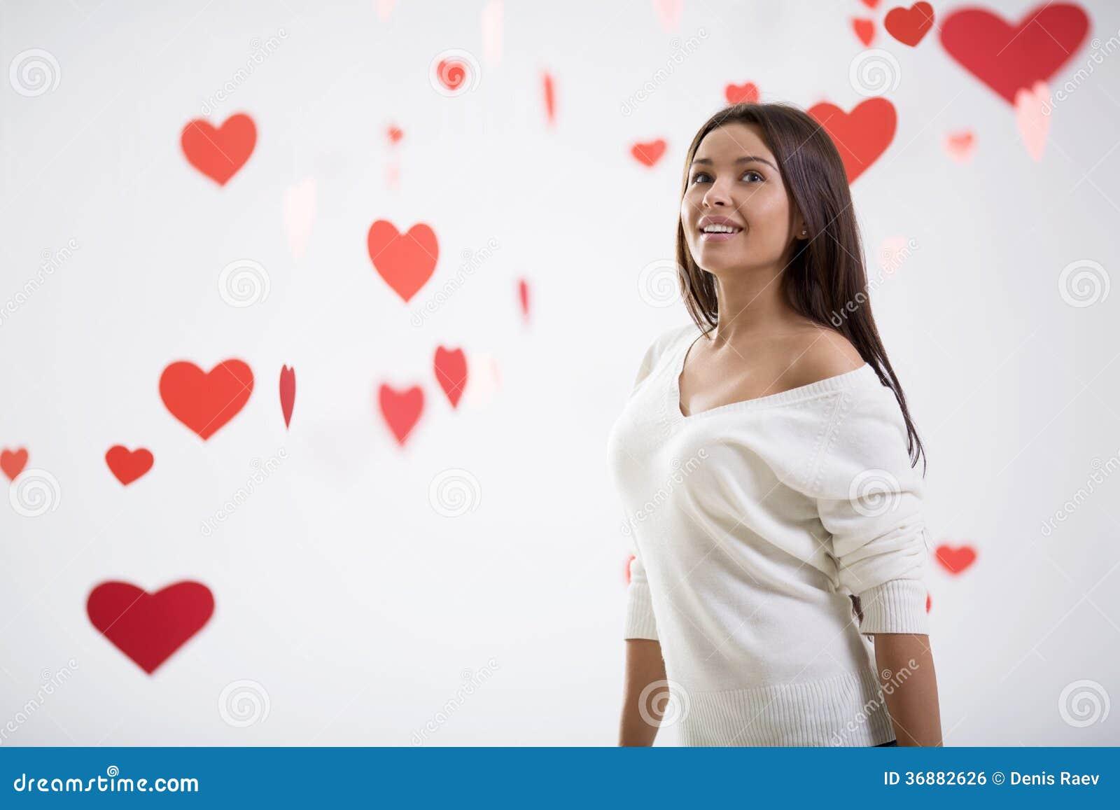 Download Giovane donna fotografia stock. Immagine di rosso, isolato - 36882626
