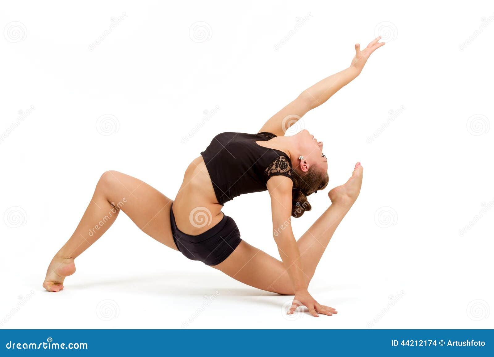 Giovane donna professionale della ginnasta