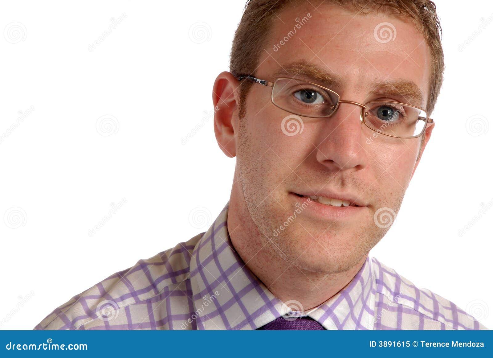 Giovane uomo d affari in occhiali
