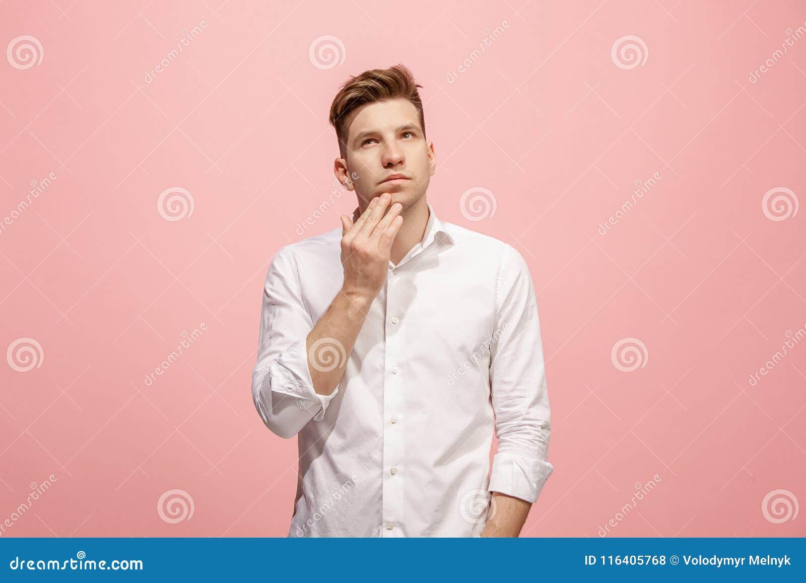 Giovane uomo d affari premuroso serio Concetto di dubbio