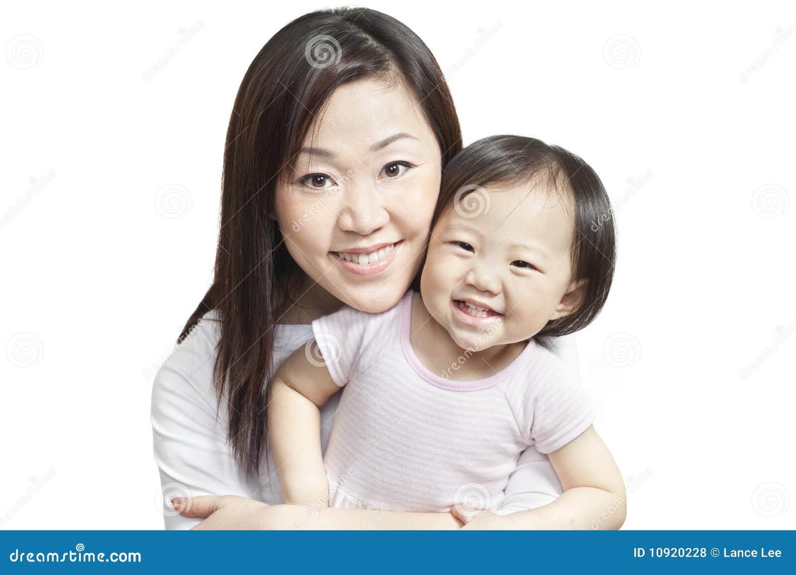 Giovani cinesi della madre della ragazza del bambino