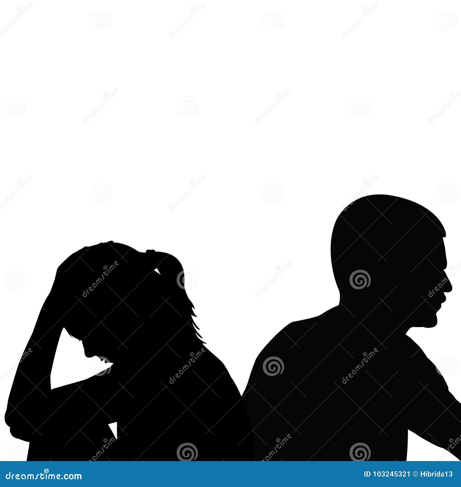 Giovani coppie infelici tristi che hanno problemi