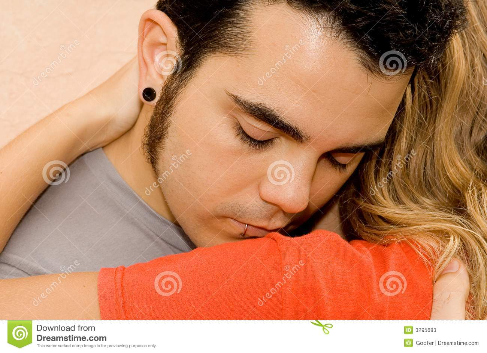 Giovani coppie tristi, uomo