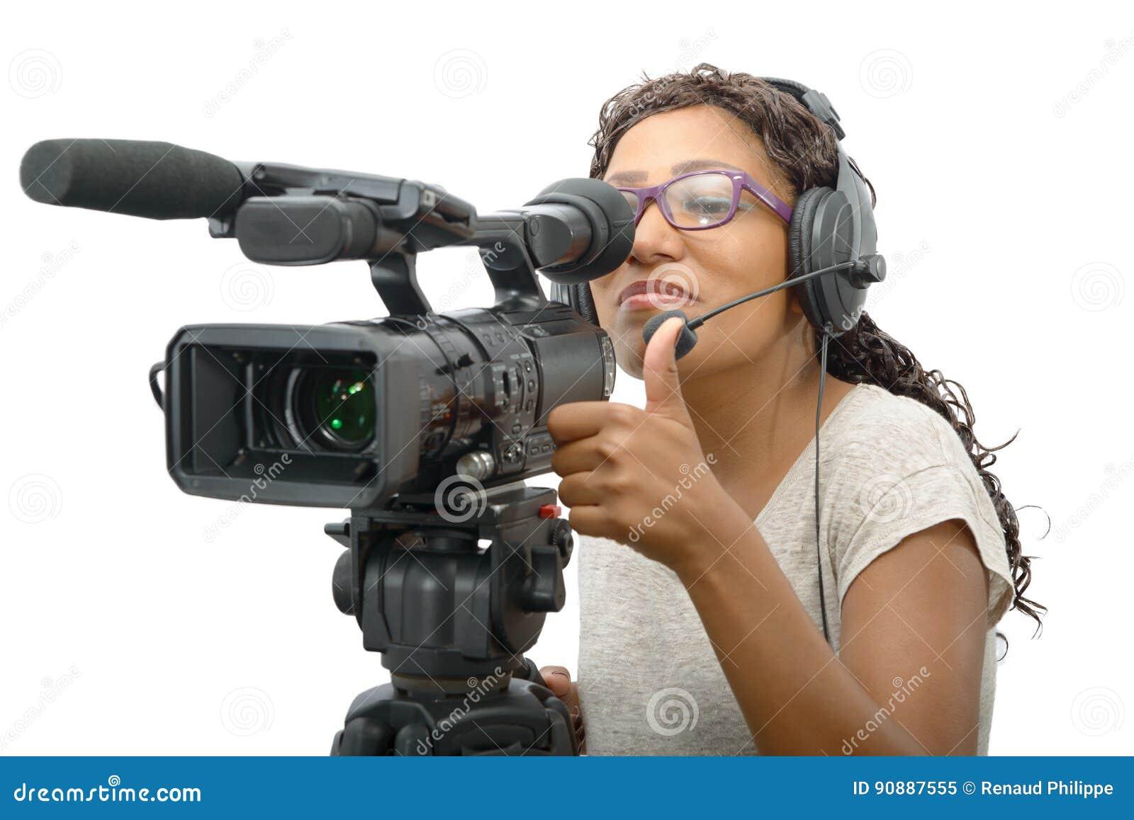 Giovani Donne Afroamericane Con La Videocamera ...