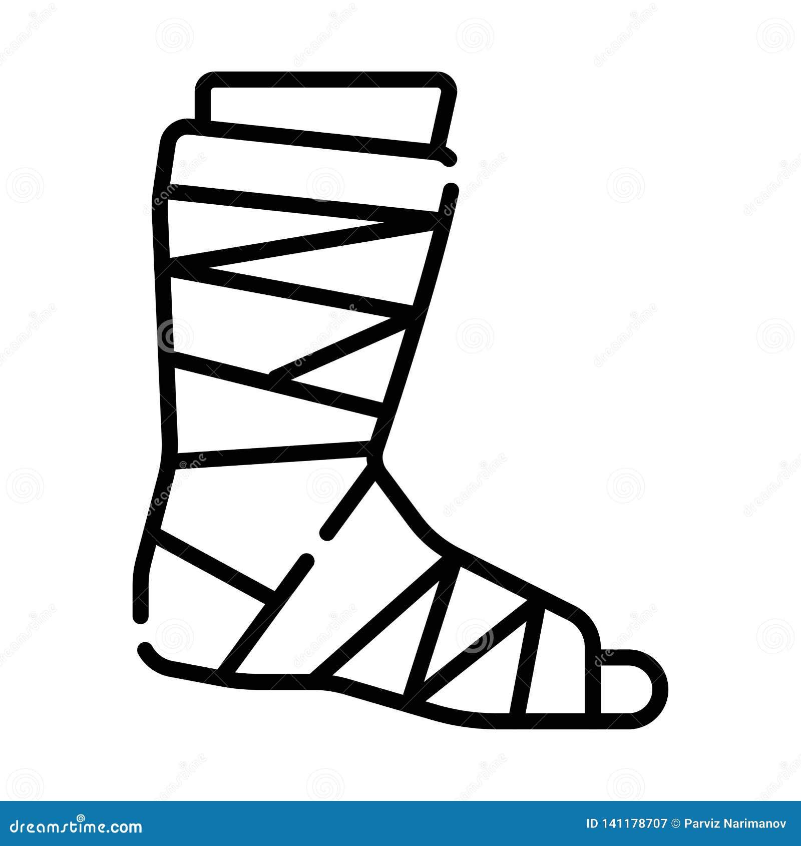 Gips of gegoten voetpictogram