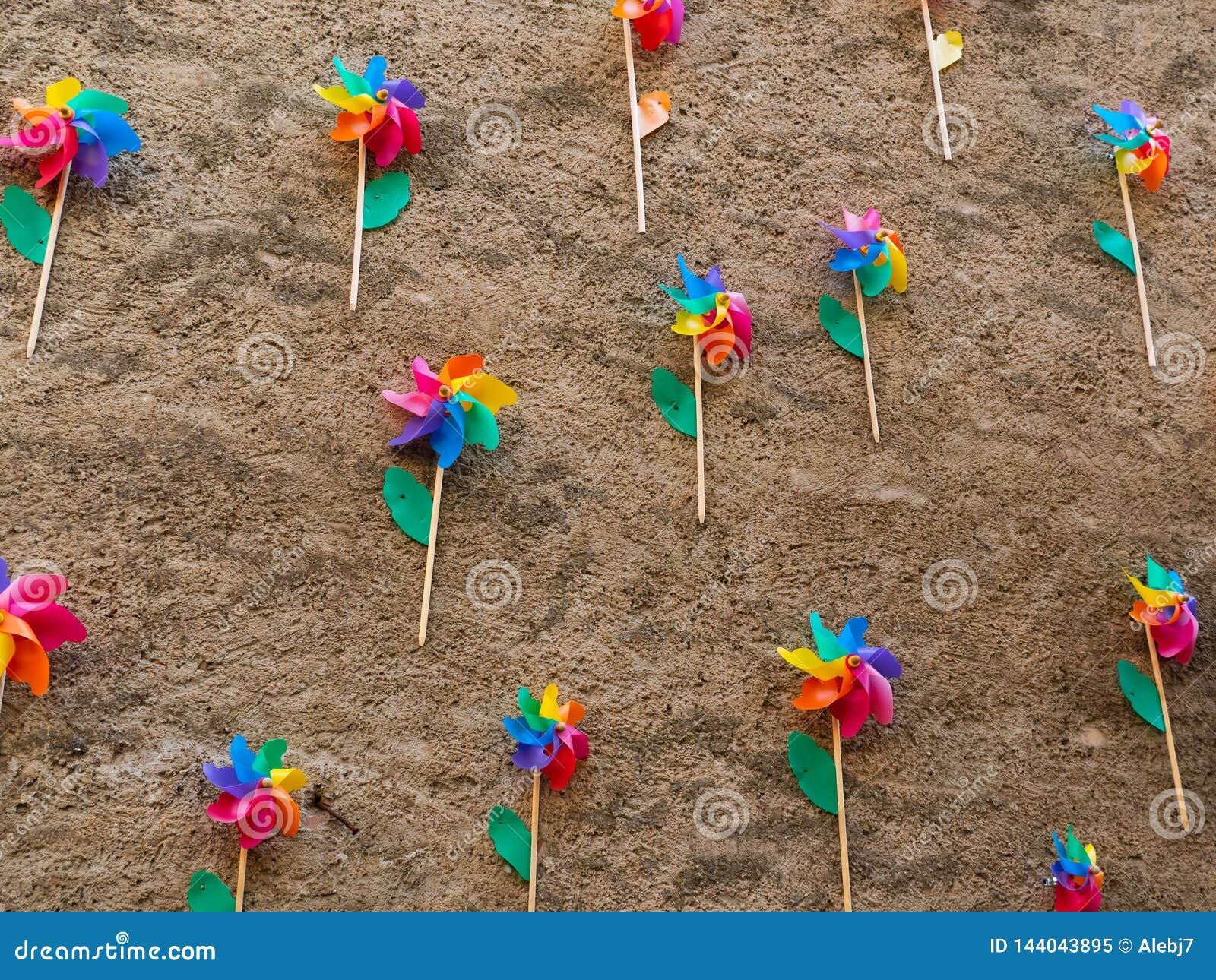Girândolas coloridos