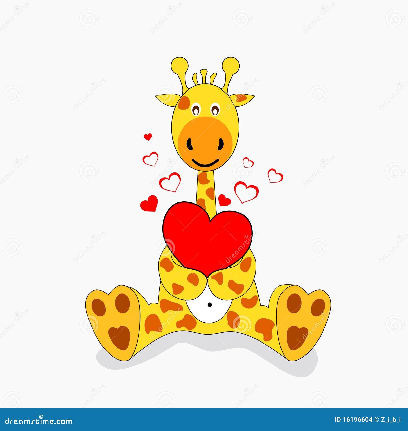 Giraf in liefde