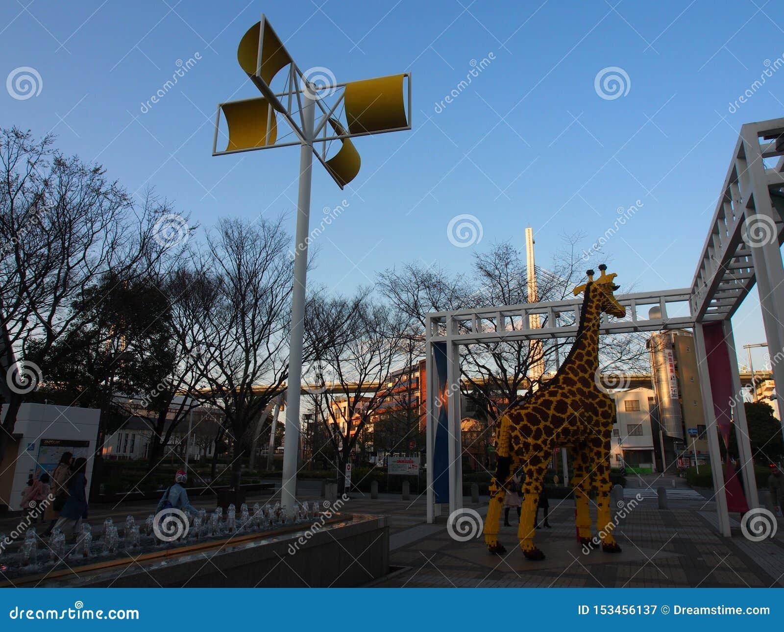 Girafa Osaka Kansai Japan Travel da rua do céu