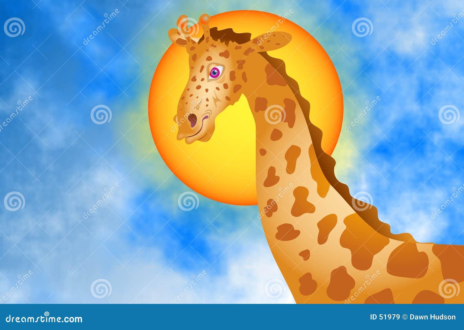 Download Giraffe απεικόνιση αποθεμάτων. εικονογραφία από ψηλός, ήλιος - 51979