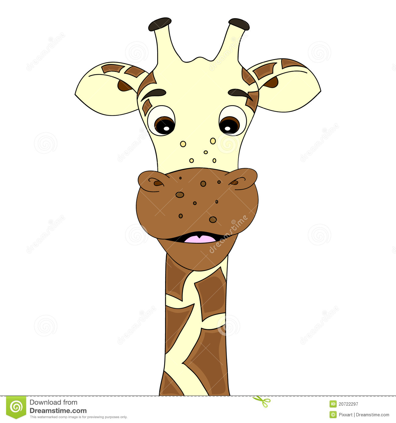 Giraffe cartoon stock vector. Image of animal, isolated ...