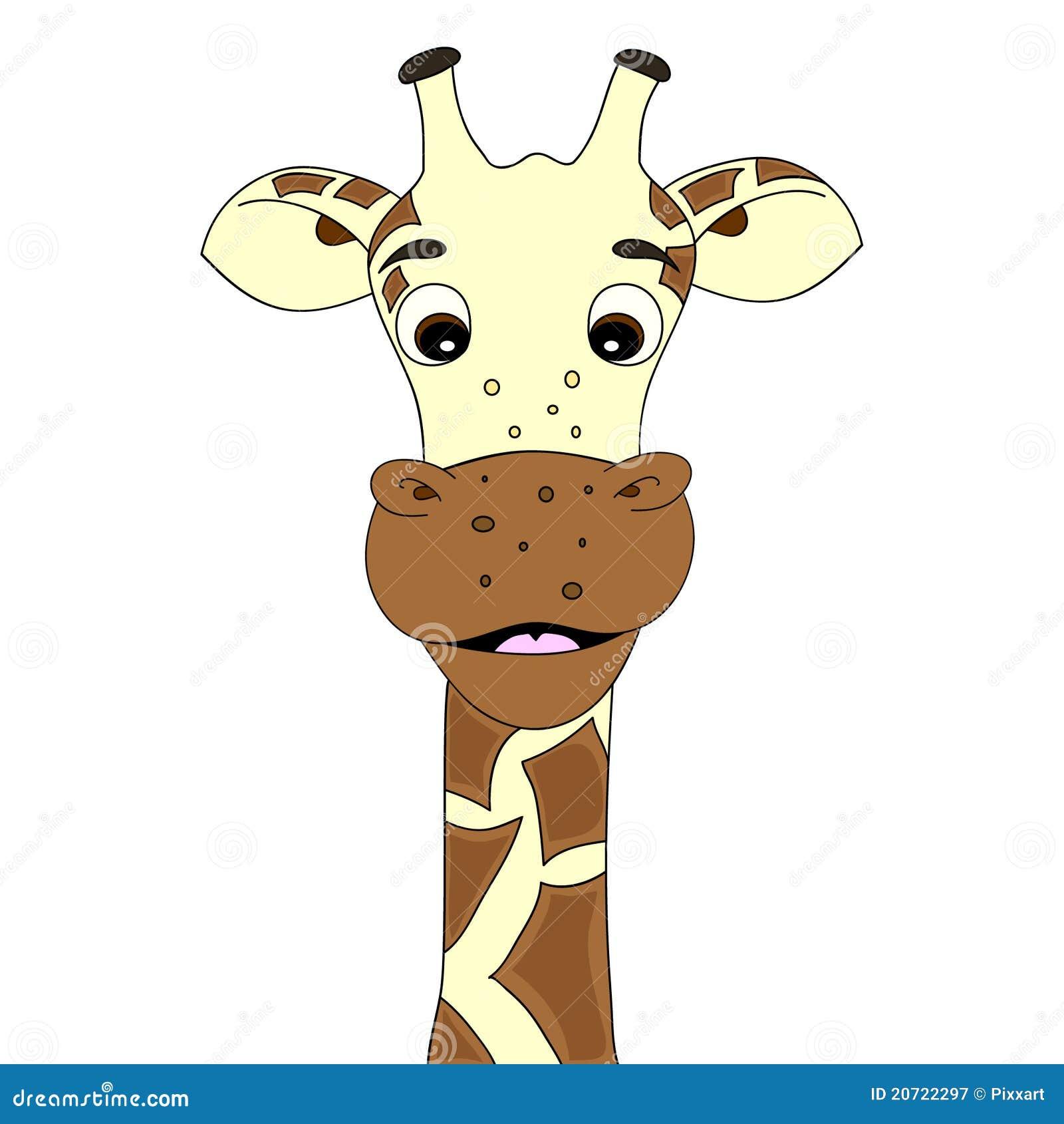 cartoon baby giraffe head