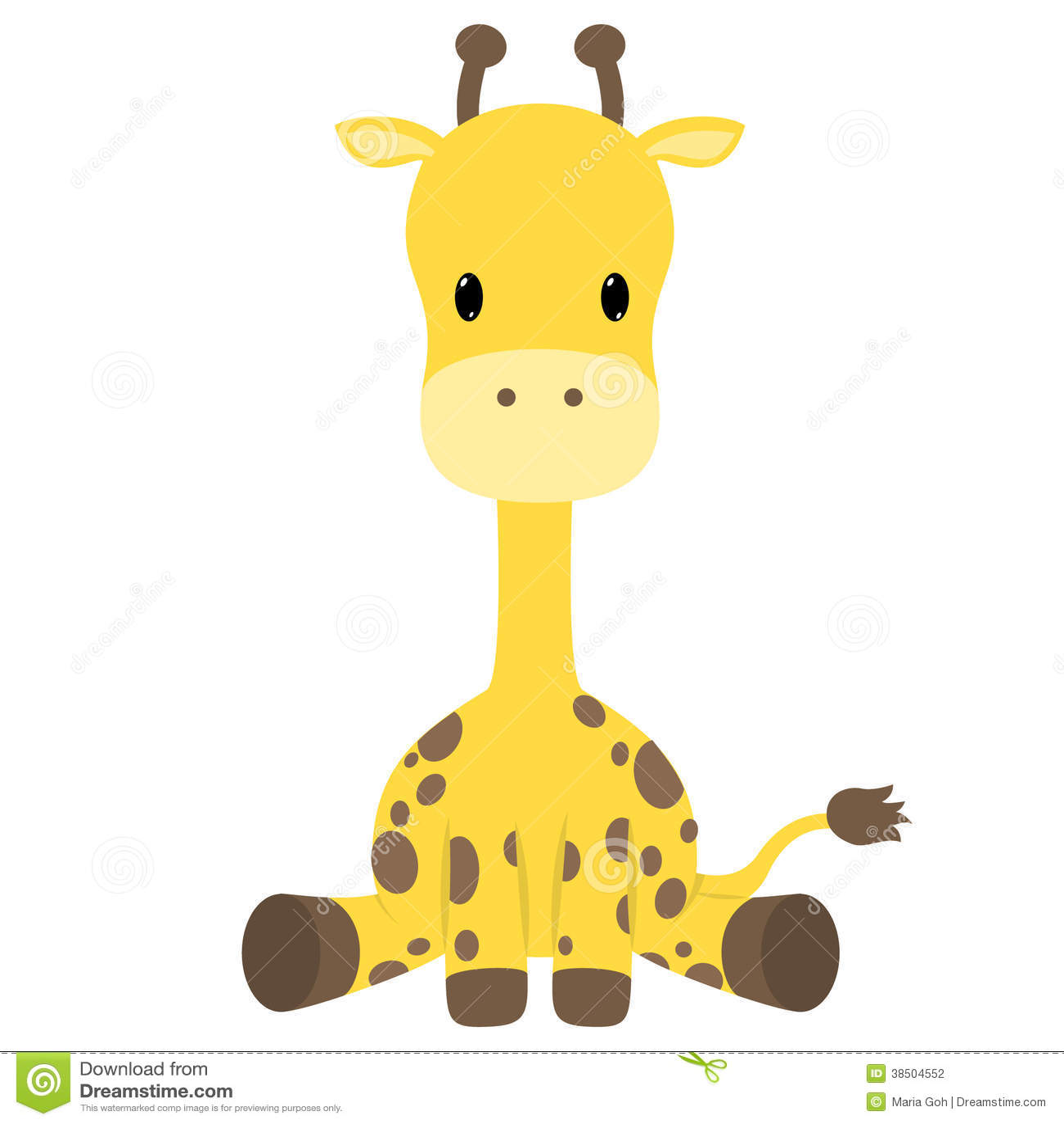 Giraffe stock illustration. Illustration of antler ...