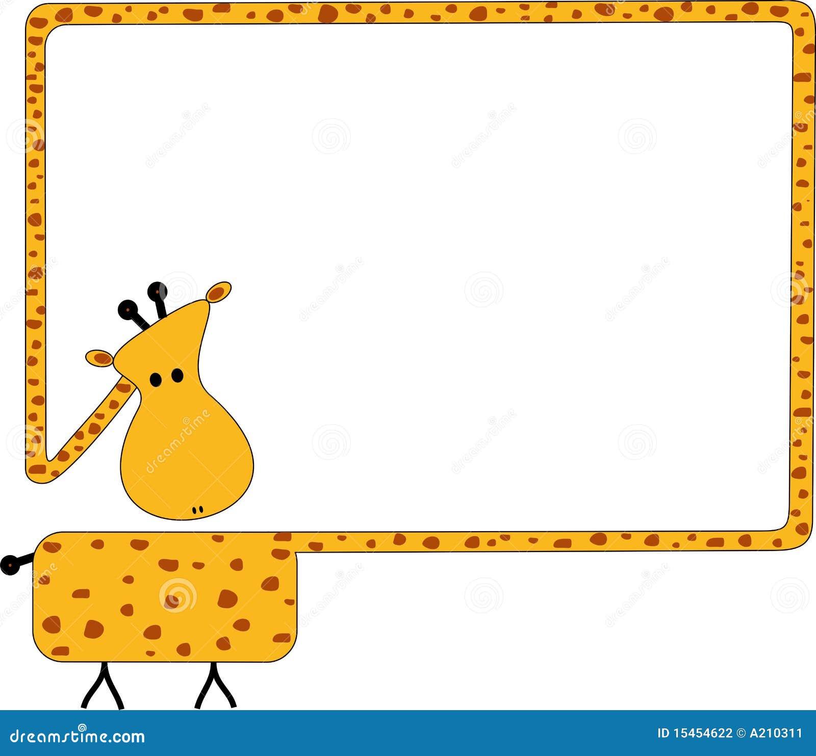 Giraffe Frame Stock Photography - Image: 15454622