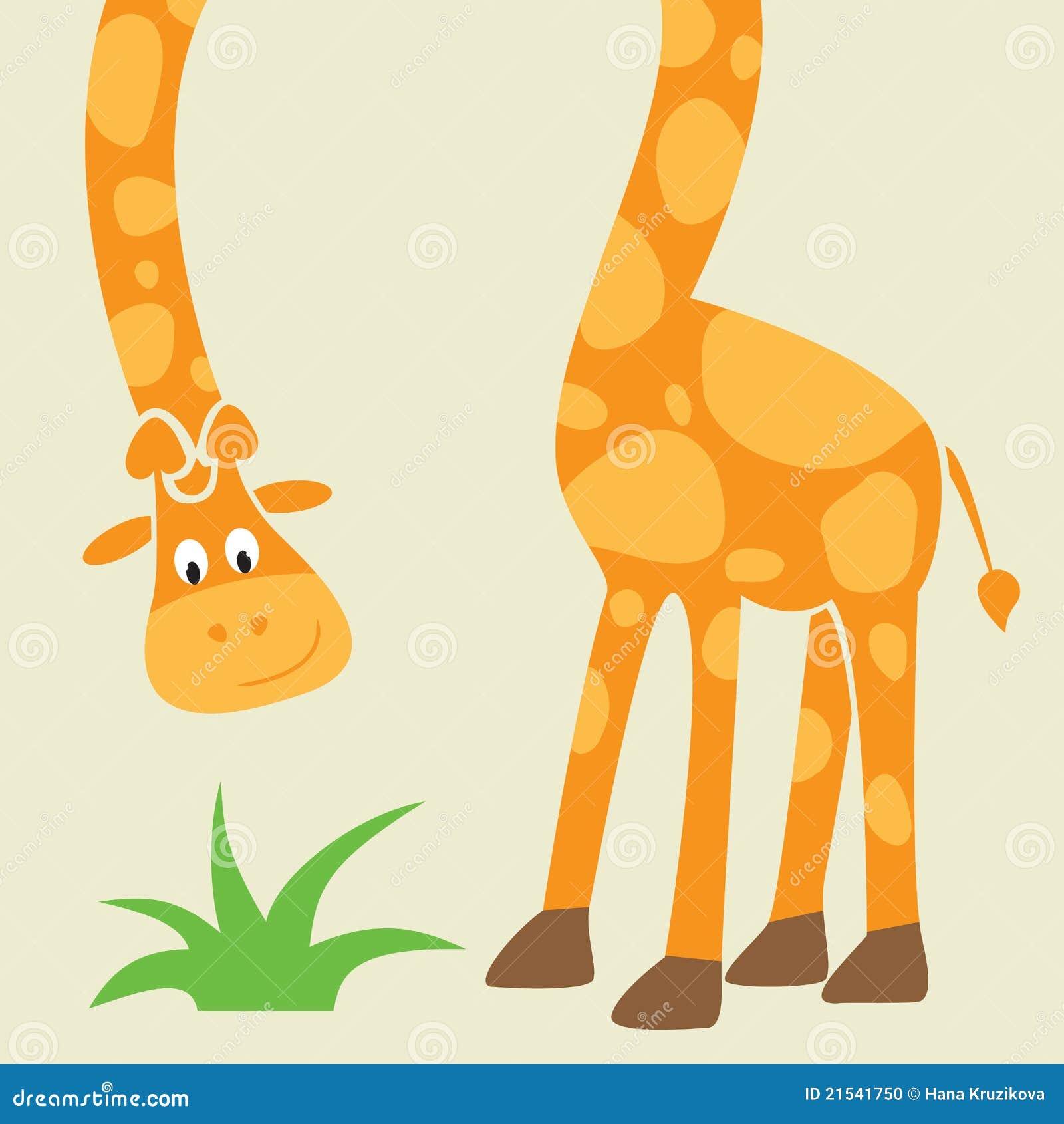 giraffe funny cartoon greeting card stock photo image 21541750