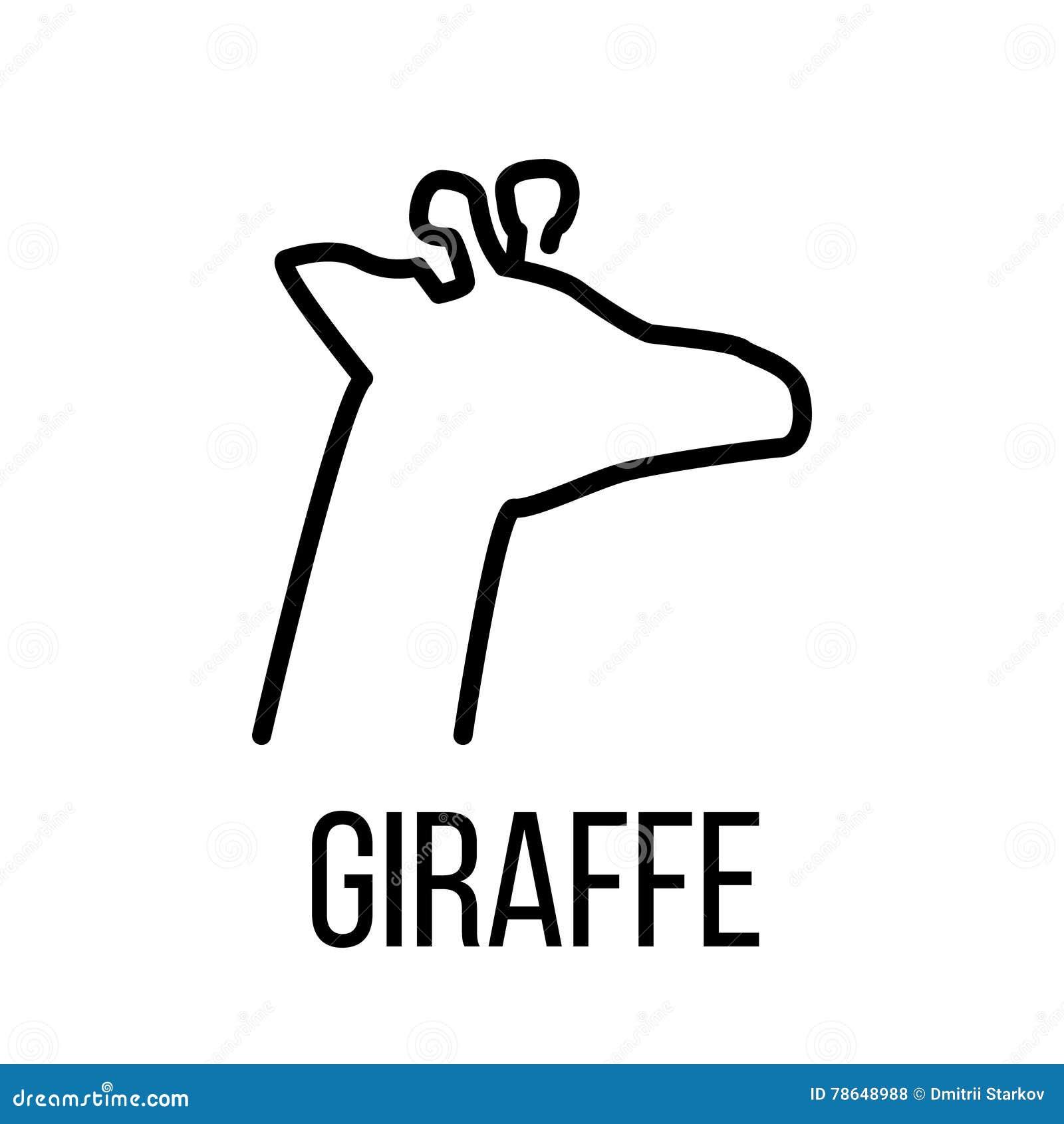 giraffe icon or logo in modern line style stock vector image