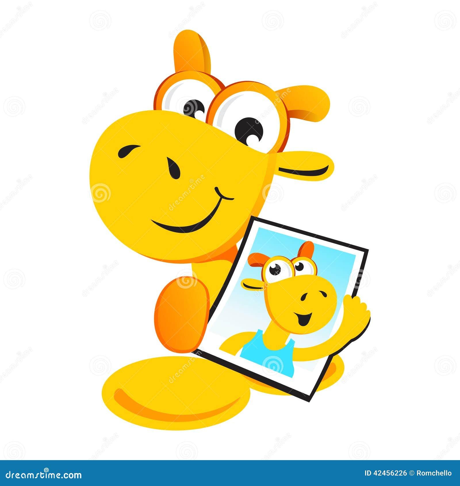 Giraffe mit seinem eigenen Foto