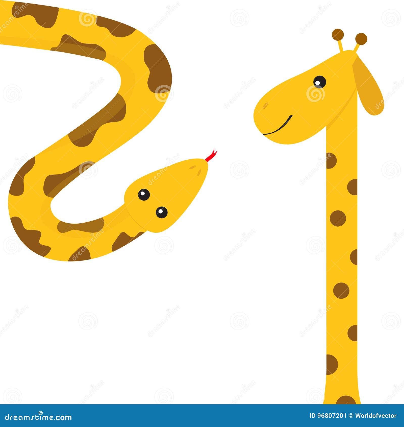 Gelbe Karte Lustig.Giraffe Mit Stelle Langer Stutzen Rote Zunge Der Gelben