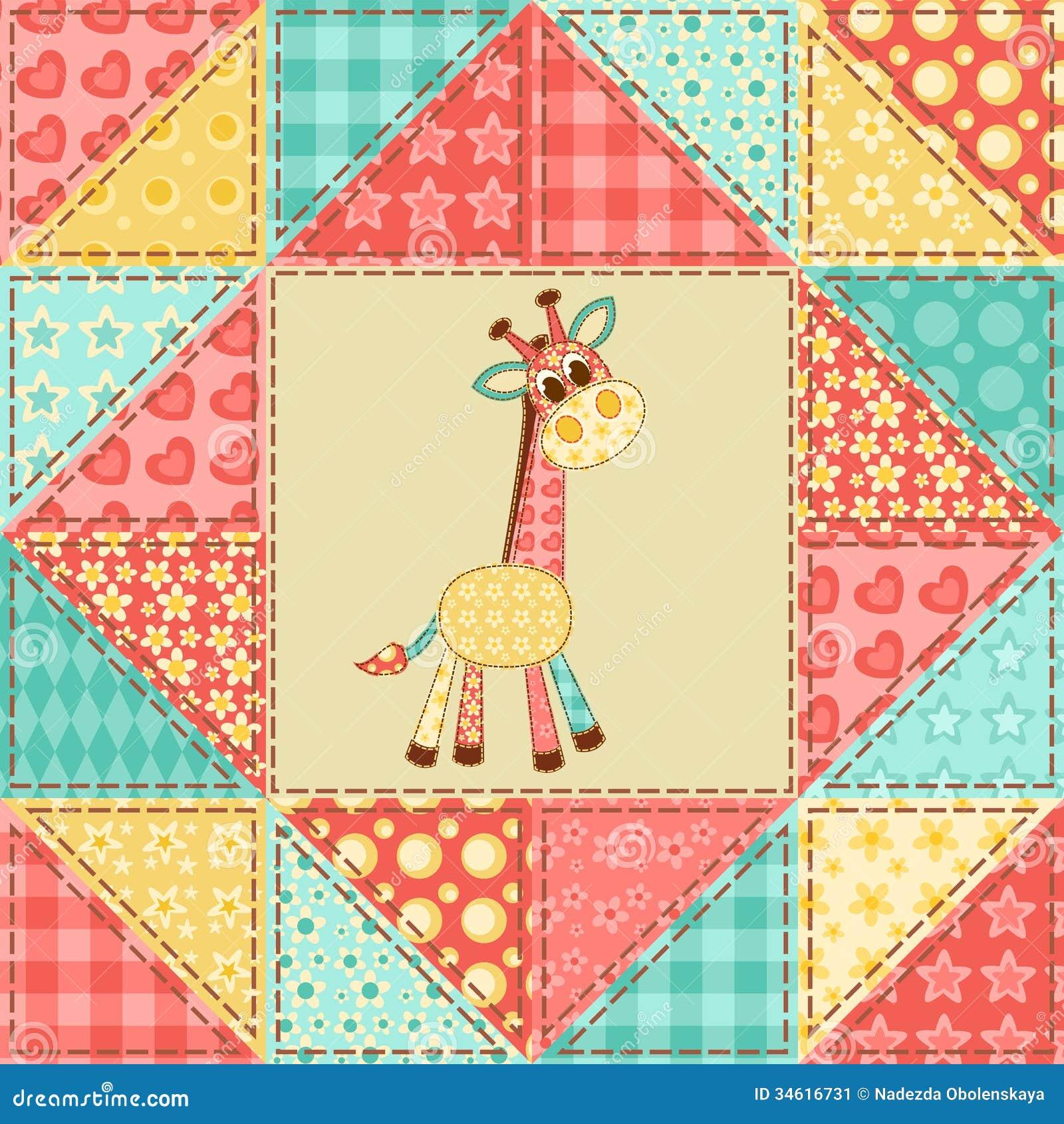 Giraffe Quilt Pattern Stock Image Image 34616731