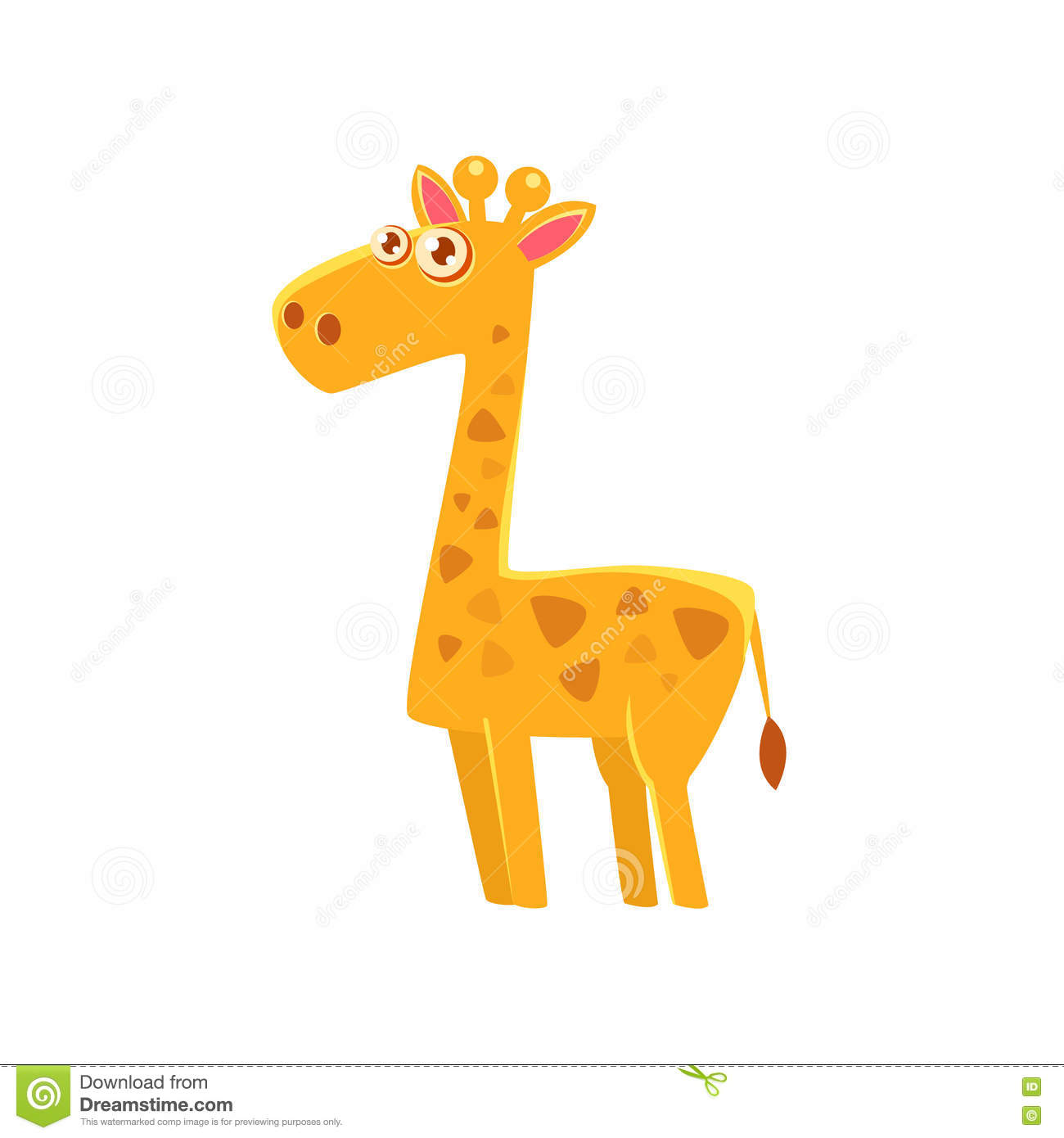 giraffe toy exotic animal drawing stock vector image 78192729