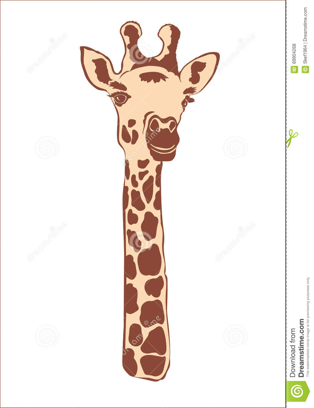 giraffe head white background - photo #46