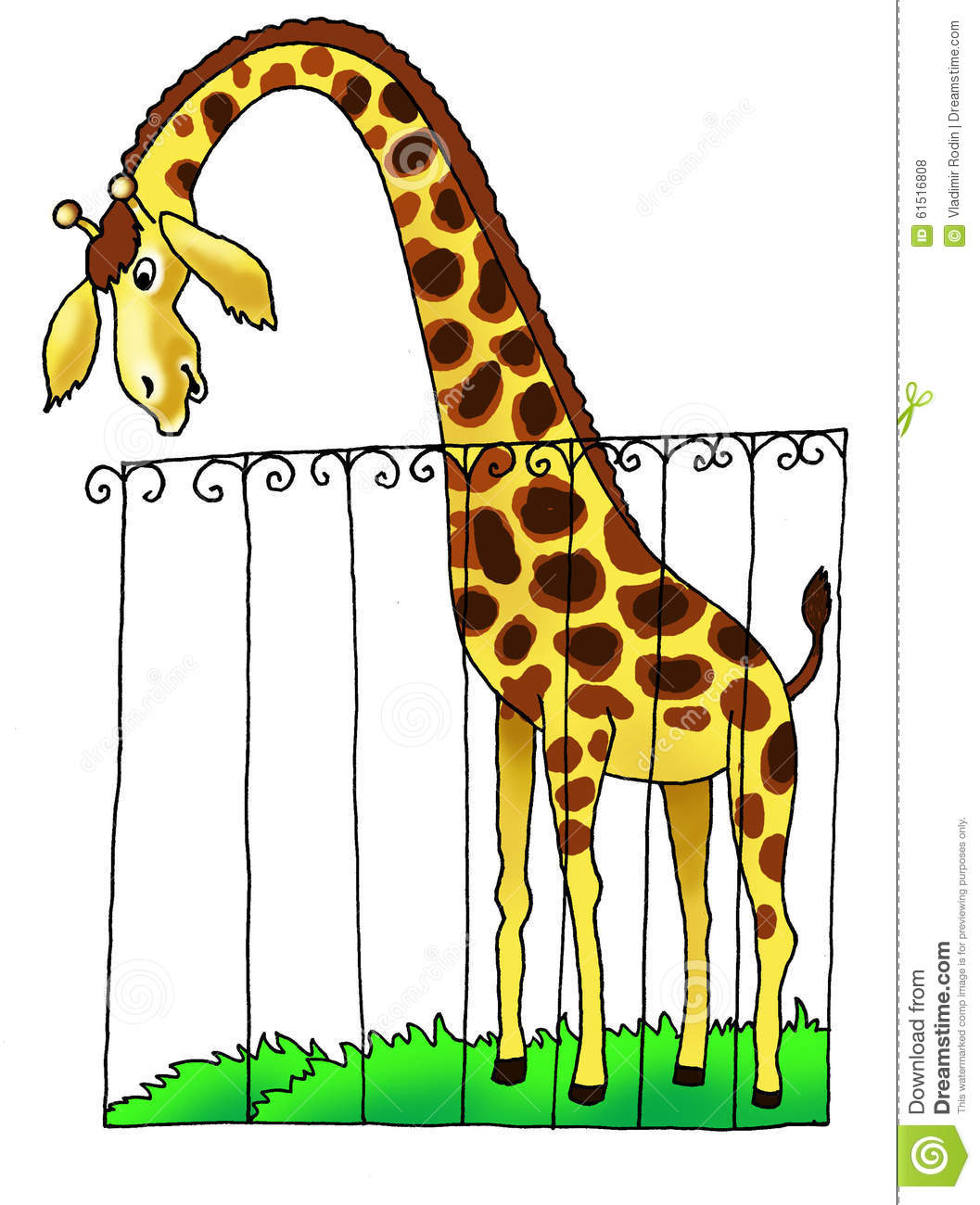 giraffe zoo africa drawing humour stock illustration clipart of cars clip art of earth from moon
