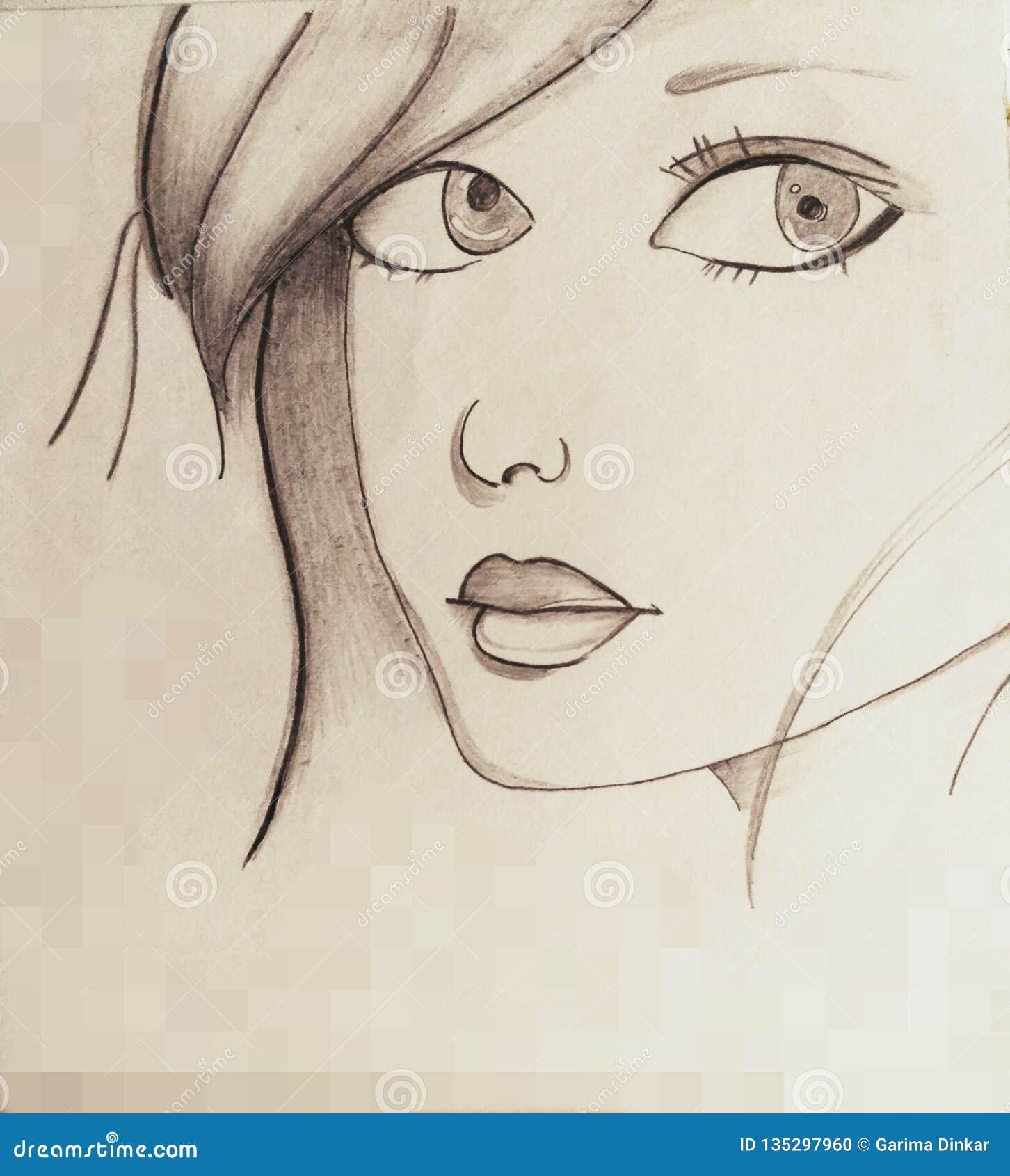 Girl& x27 σκίτσο του s