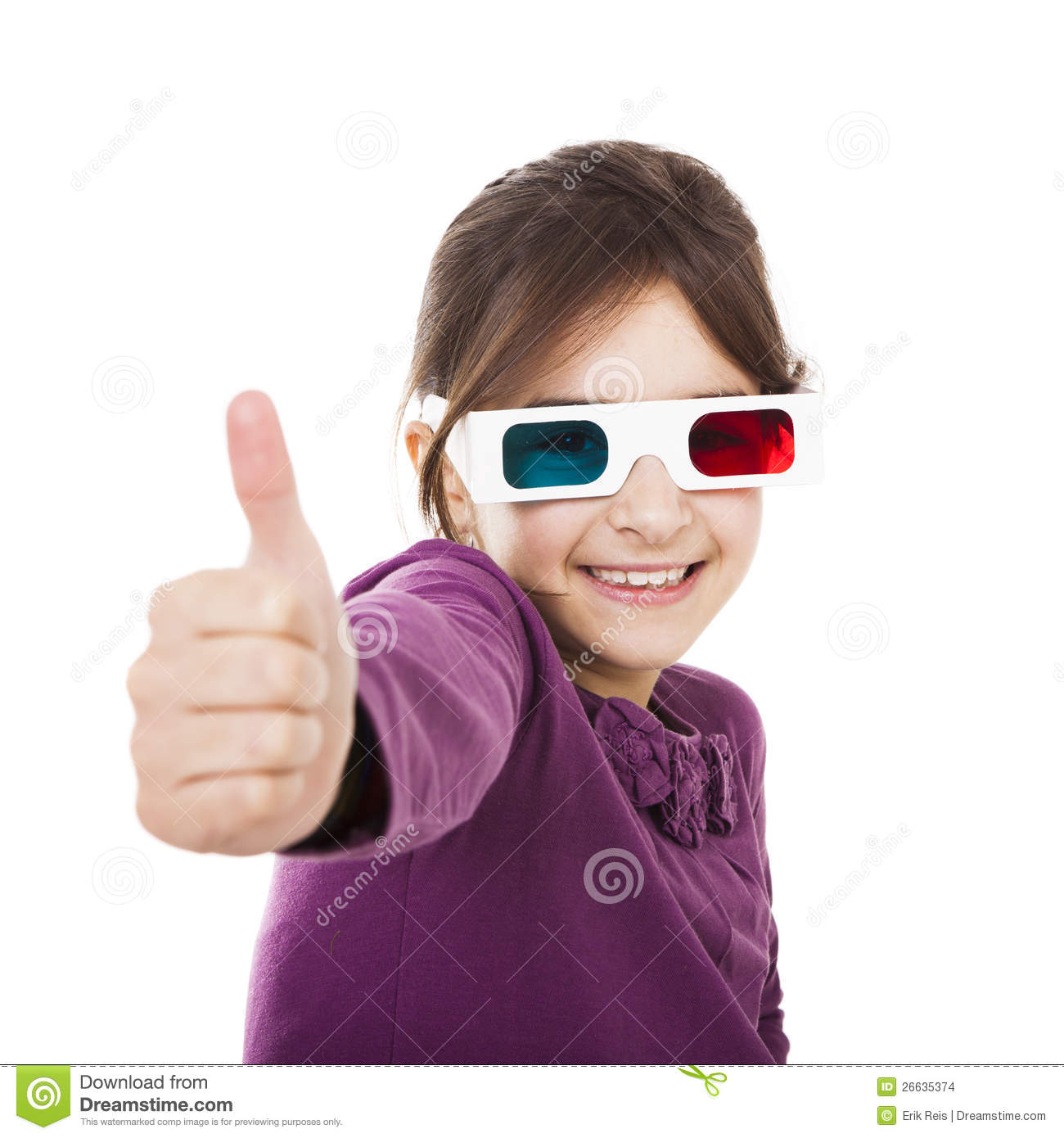 Girl With 3D Glasses Stock Images - Image: 26635374