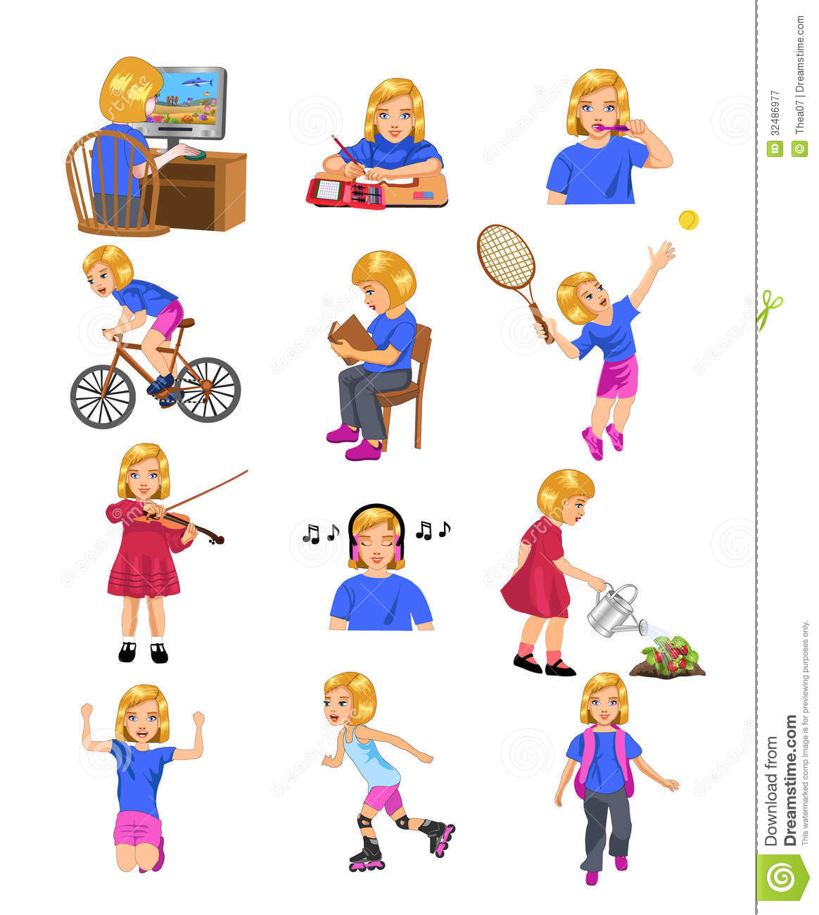 Girl activities royalty free stock photography image