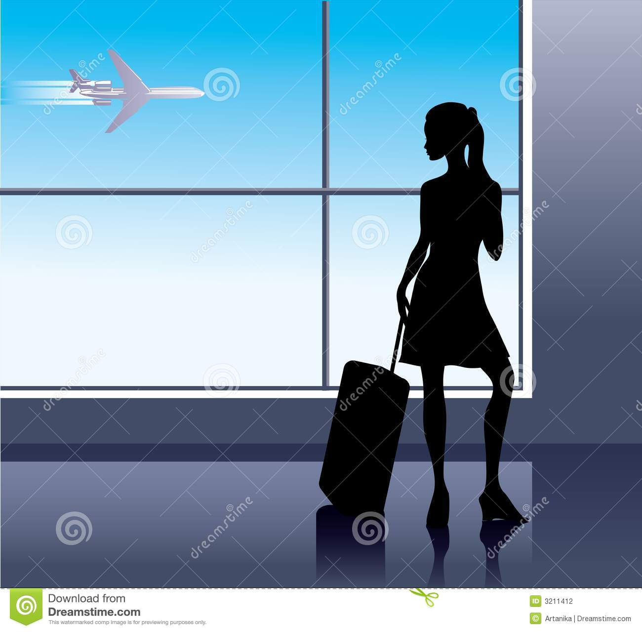 Girl in Airport