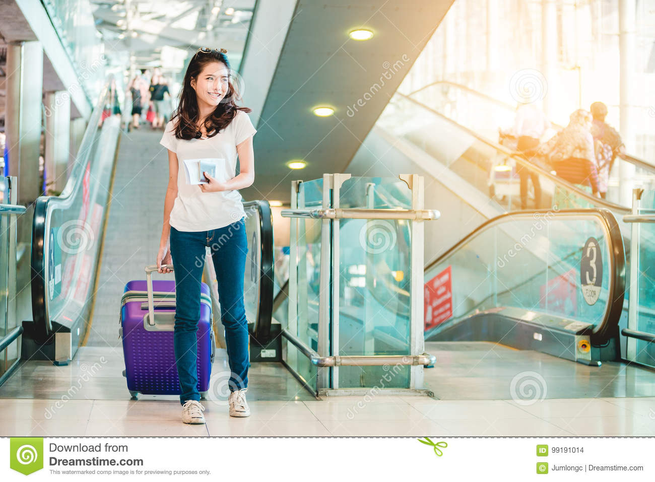 Girl in airport.