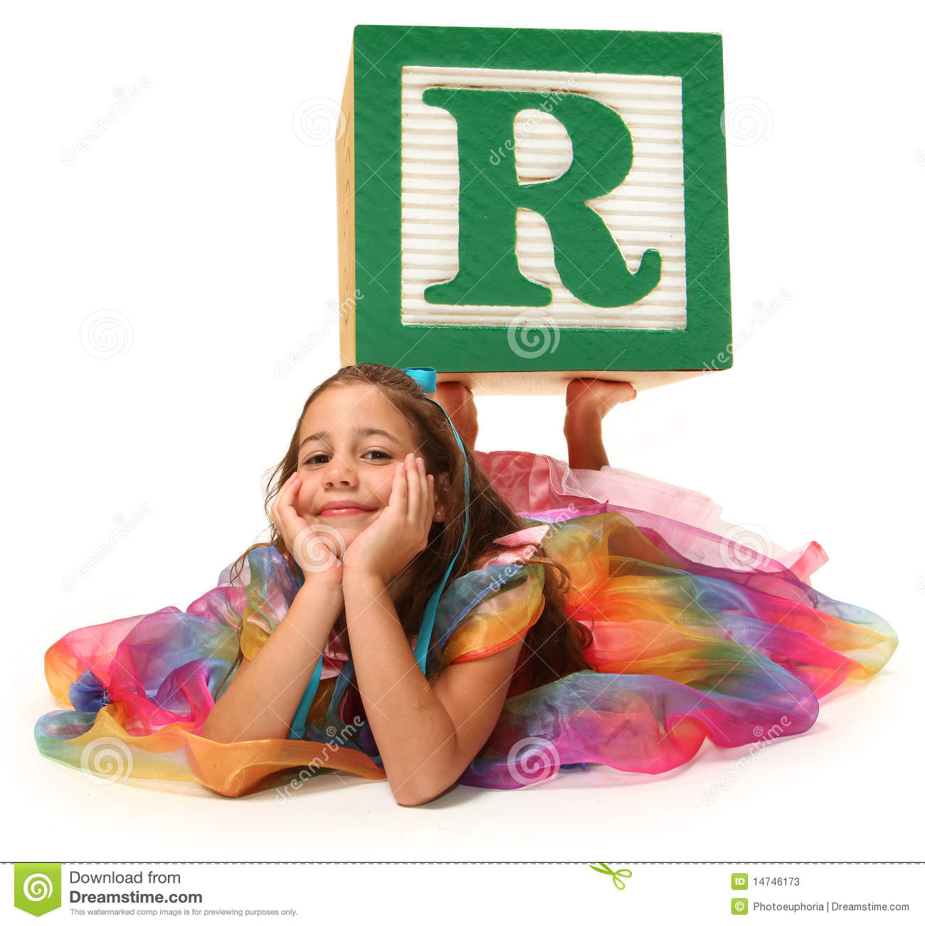 Alphabet Blocks Letter S With Beautiful Girl Stock Photo  Image Of