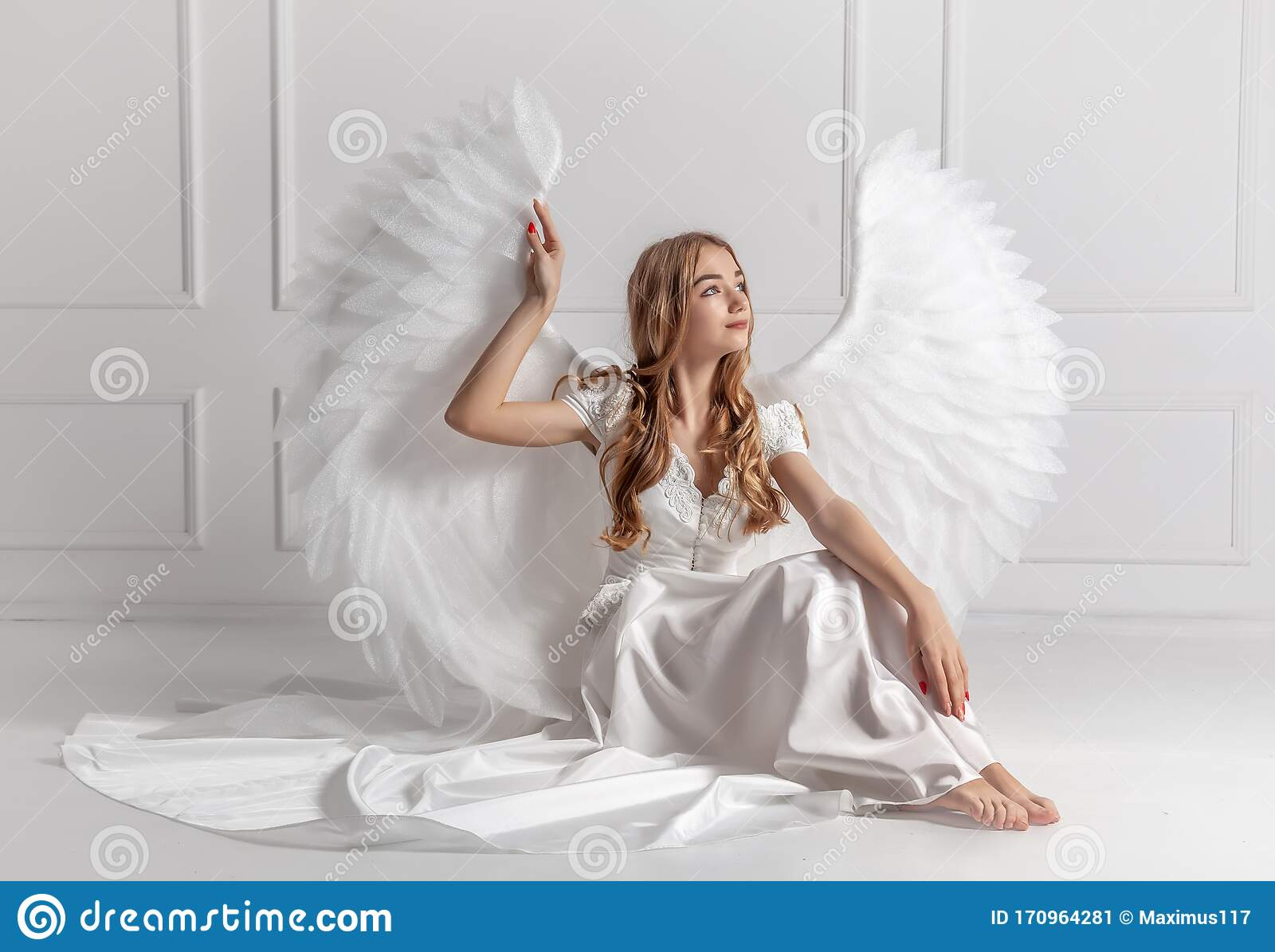 large white beautiful angel wings with attachments fancy dress girls//ladies