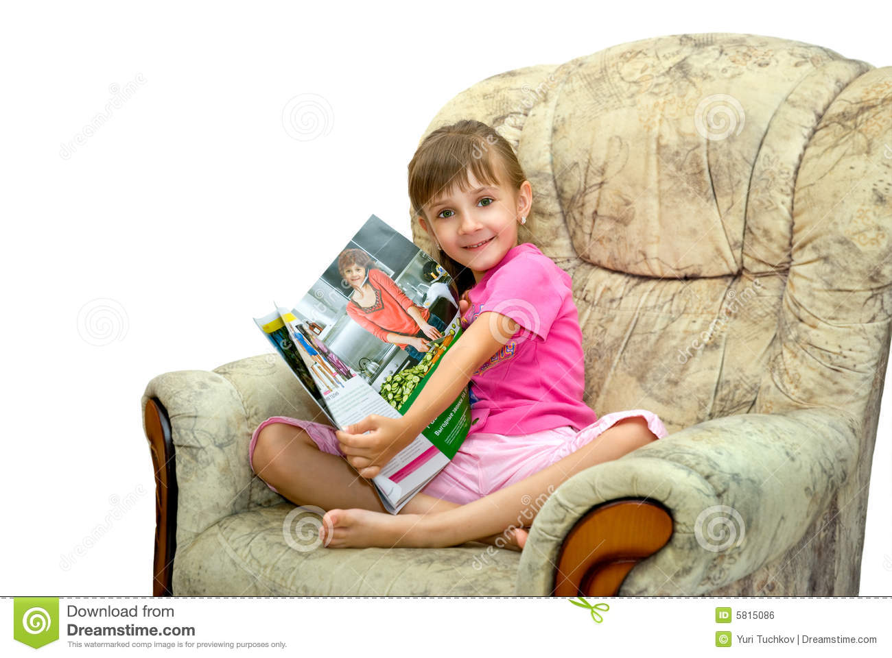 The Girl In An Armchair Royalty Free Stock Image - Image ...